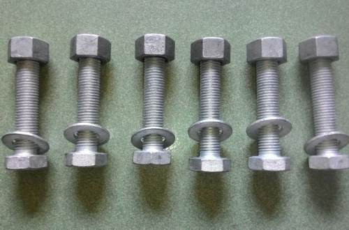 Hex head bolt ASTM A193 B7 with nut ASTM A194 2H, Size: M16 X100